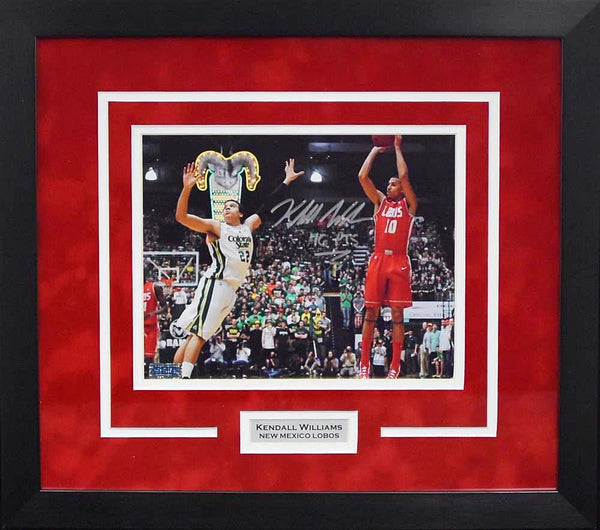 Kendall Williams Autographed New Mexico Lobos 8x10 Framed Photograph (46 pts)