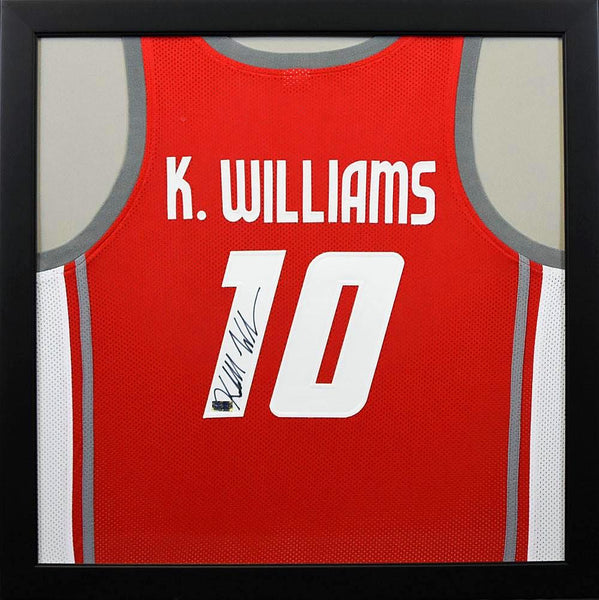 Kendall Williams Autographed New Mexico Lobos #10 Framed Jersey