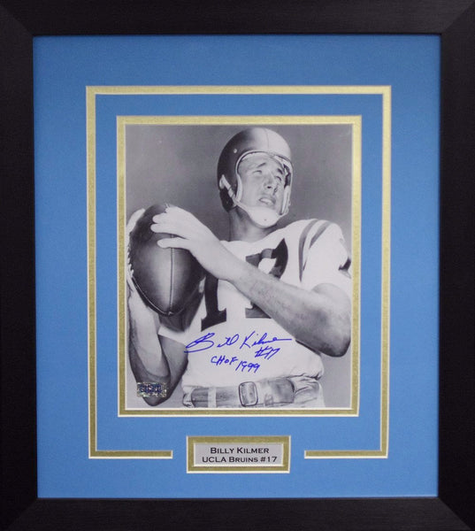 Billy Kilmer Autographed UCLA Bruins 8x10 Framed Photograph
