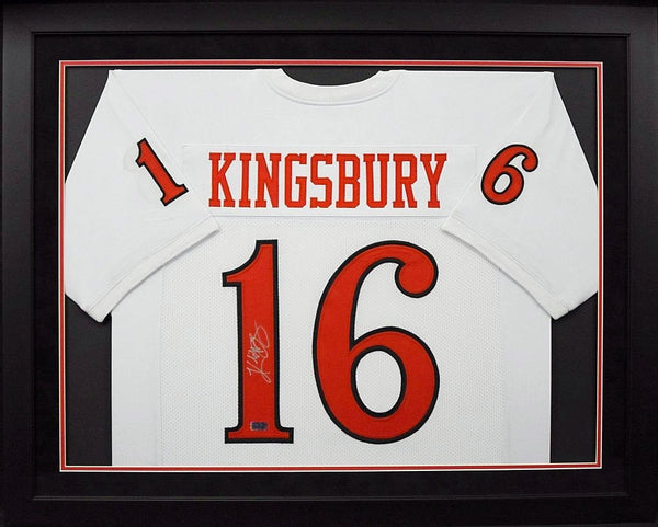 Kliff Kingsbury Autographed Texas Tech Red Raiders #16 Framed Jersey