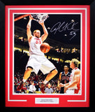 Alex Kirk Autographed New Mexico Lobos 16x20 Framed Photograph