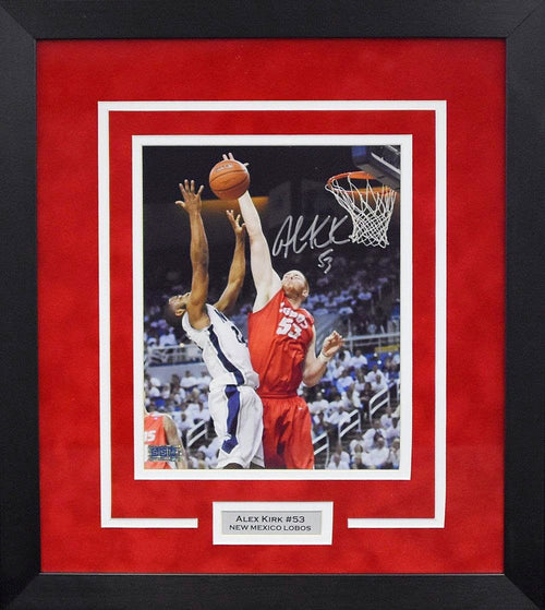 Alex Kirk Autographed New Mexico Lobos 8x10 Framed Photograph