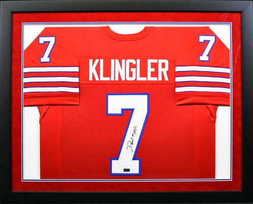 David Klingler Autographed Houston Cougars #7 Framed Jersey