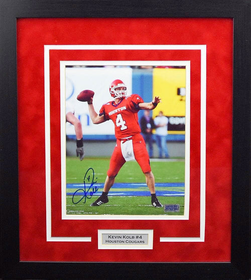 Kevin Kolb Autographed Houston Cougars 8x10 Framed Photograph