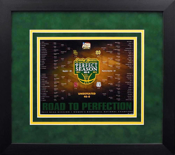 Baylor Bears Women's National Championship Bracket 8x10 Framed Photograph