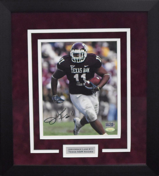 Jorvorskie Lane Autographed Texas A&M Aggies 8x10 Framed Photograph