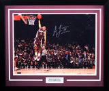 Acie Law IV Autographed Texas A&M Aggies 16x20 Framed Photograph (Dunk)