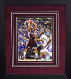 Acie Law IV Autographed Texas A&M Aggies 8x10 Framed Photograph (Shooting)