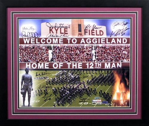 Aggie Legends Autographed Texas A&M Aggies 16x20 Framed Photograph (Von Miller, John David Crow and 10 others)