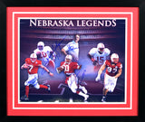 Tom Osborne, Ndamukong Suh, Tommie Frazier, Eric Crouch, Johnny Rodgers & Mike Rozier Autographed Nebraska Cornhuskers 16x20 Framed Photograph