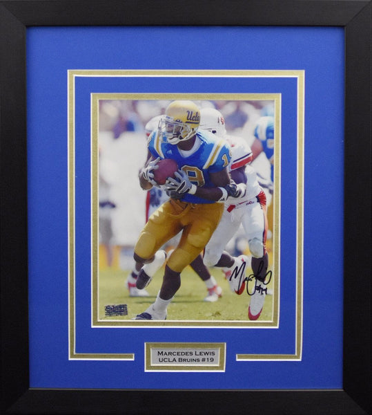 Marcedes Lewis Autographed UCLA Bruins 8x10 Framed Photograph