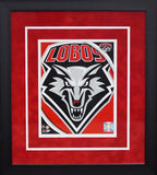 New Mexico Lobos Logo 8x10 Framed Photograph