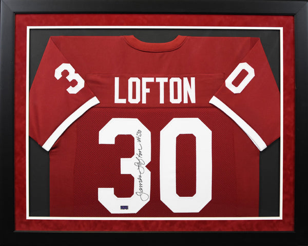 James Lofton Autographed Stanford Cardinal #30 Framed Jersey