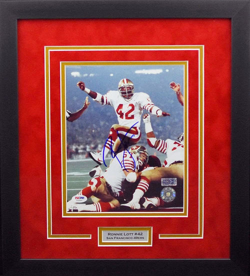 Ronnie Lott Autographed San Francisco 49ers 8x10 Framed Photograph
