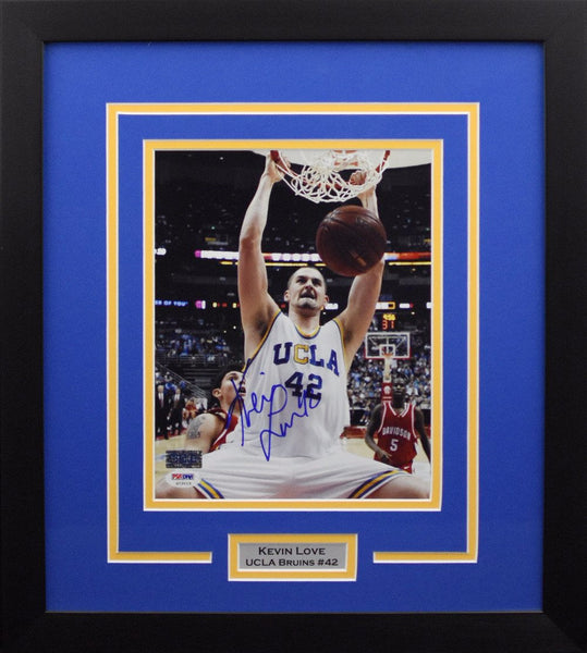Kevin Love Autographed UCLA Bruins 8x10 Framed Photograph