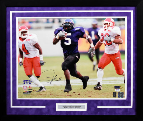 LaDainian Tomlinson Autographed TCU Horned Frogs 16x20 Framed Photograph (vs Fresno)