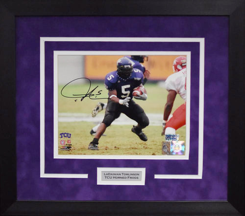 LaDainian Tomlinson Autographed TCU Horned Frogs 8x10 Framed Photograph