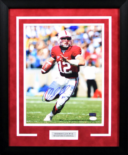 Andrew Luck Autographed Stanford Cardinal 11x14 Framed Photograph #1