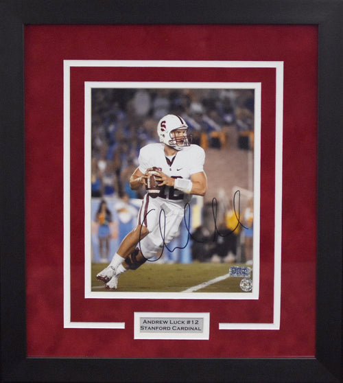 Andrew Luck Autographed Stanford Cardinal 8x10 Framed Photograph (vs UCLA)