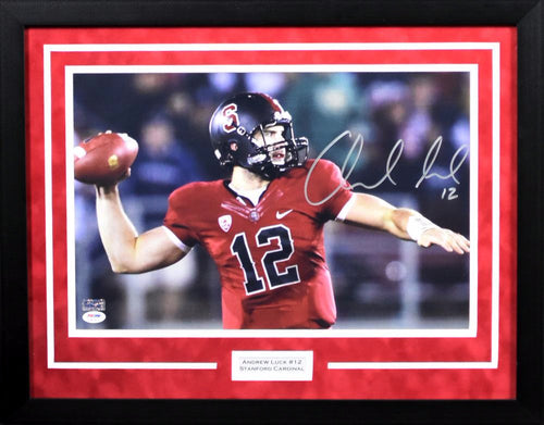 Andrew Luck Autographed Stanford Cardinal 11x14 Framed Photograph #3
