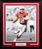 Andrew Luck Autographed Stanford Cardinal 16x20 Framed Photograph (Spotlight)