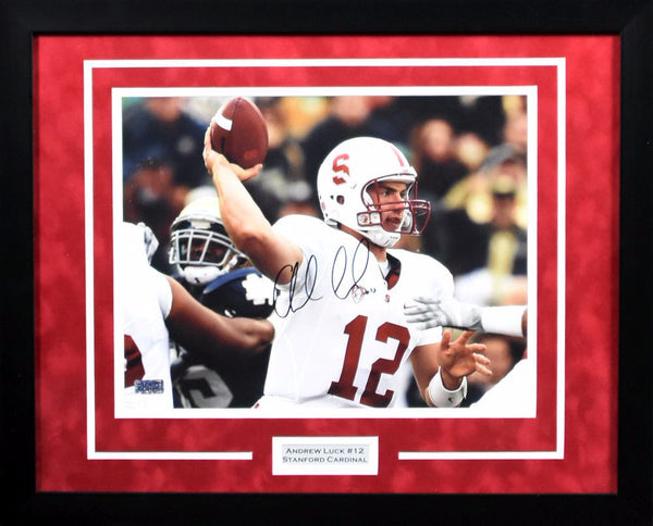 Andrew Luck Autographed Stanford Cardinal 11x14 Framed Photograph #2