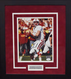 Andrew Luck Autographed Stanford Cardinal 8x10 Framed Photograph (vs USC)