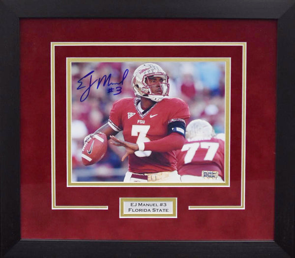 EJ Manuel Autographed Florida State Seminoles 8x10 Framed Photograph