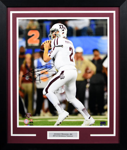 Johnny Manziel Autographed Texas A&M Aggies 16x20 Framed Photograph (Cotton Bowl)