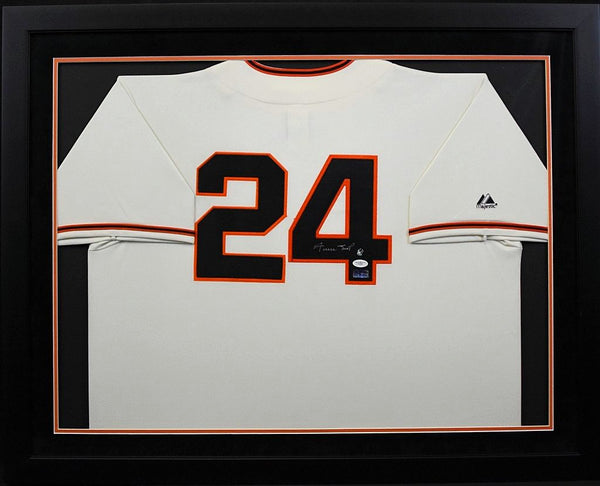 Willie Mays Autographed San Francisco Giants #24 Framed Jersey
