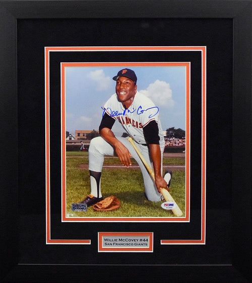 Willie McCovey Autographed San Francisco Giants 8x10 Framed Photograph
