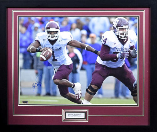 Reggie McNeal Autographed Texas A&M Aggies 16x20 Framed Photograph (vs KSU)