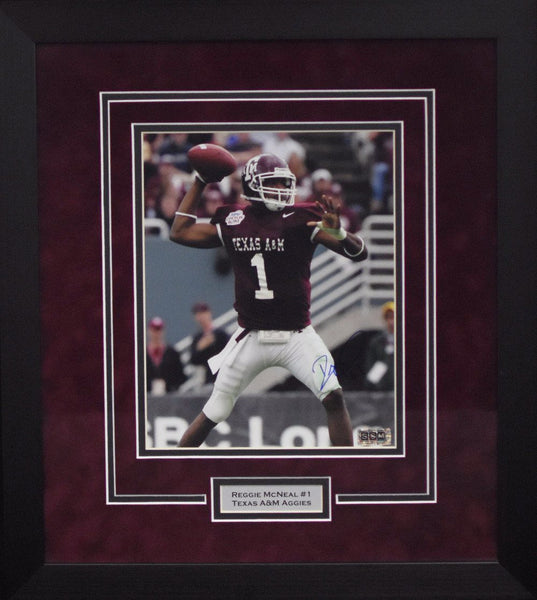 Reggie McNeal Autographed Texas A&M Aggies 8x10 Framed Photograph (Vertical)