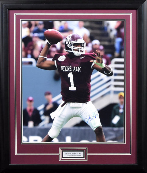 Reggie McNeal Autographed Texas A&M Aggies 16x20 Framed Photograph (Cotton Bowl)