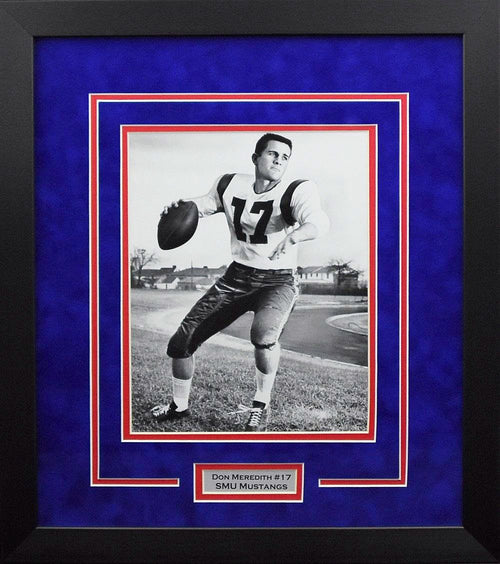 Don Meredith SMU Mustangs 8x10 Framed Photograph