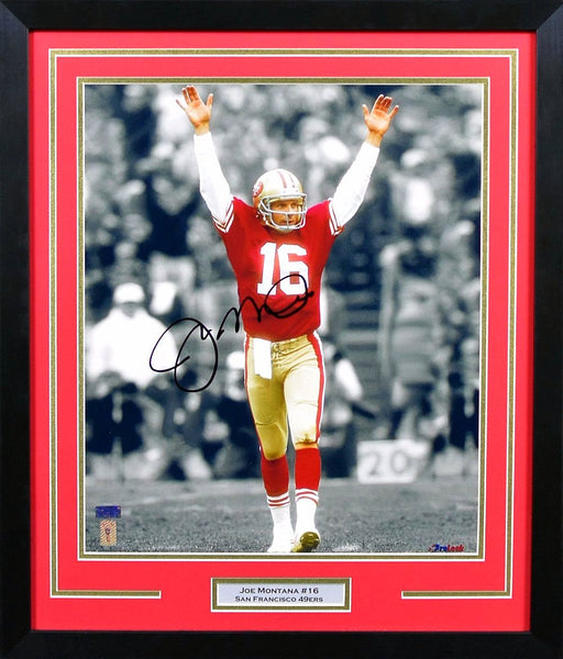 Joe Montana Autographed San Francisco 49ers 16x20 Framed Photograph