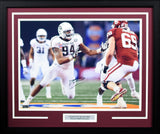 Damontre Moore Autographed Texas A&M Aggies 16x20 Framed Photograph