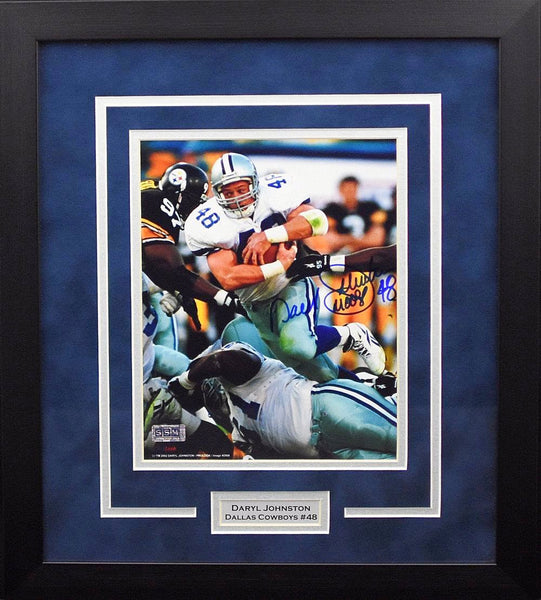 "Daryl ""Moose"" Johnston Autographed Dallas Cowboys 8x10 Framed Photograph"