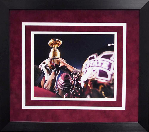 Mississippi State Bulldogs Egg Bowl Trophy 8x10 Framed Photograph