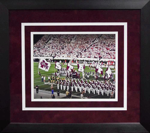 Mississippi State Bulldogs Flags 8x10 Framed Photograph