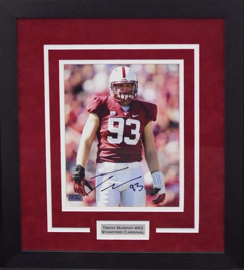 Trent Murphy Autographed Stanford Cardinal 8x10 Framed Photograph