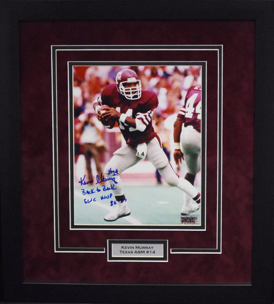 Kevin Murray Autographed Texas A&M Aggies 8x10 Framed Photograph