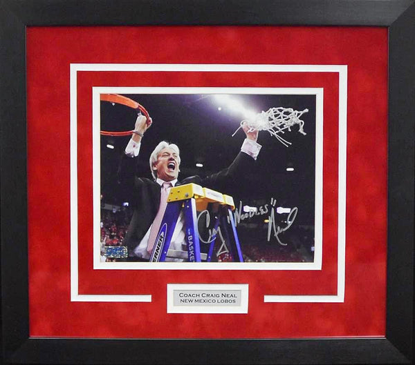 Craig Neal Autographed New Mexico Lobos 8x10 Framed Photograph