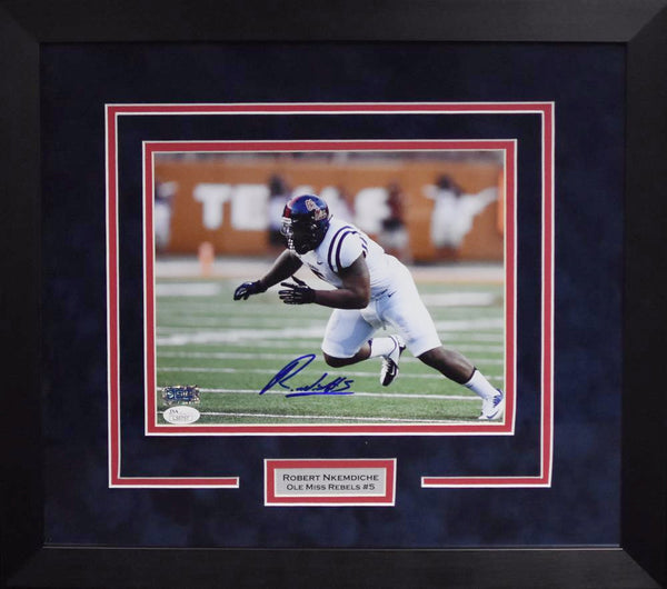 Robert Nkemdiche Autographed Ole Miss Rebels 8x10 Framed Photograph