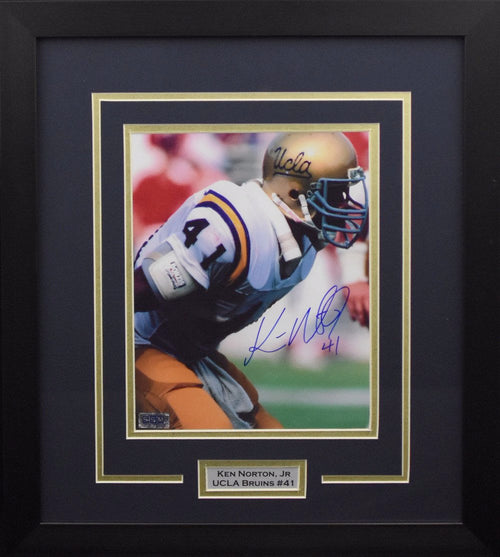 Ken Norton Jr Autographed UCLA Bruins 8x10 Framed Photograph