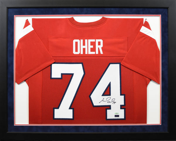 Michael Oher Autographed Ole Miss Rebels #74 Framed Jersey