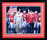 Tom Osborne Autographed Nebraska Cornhuskers 16x20 Framed Photograph (Tunnel Walk)