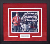 Tom Osborne Autographed Nebraska Cornhuskers 8x10 Framed Photograph (Quote)