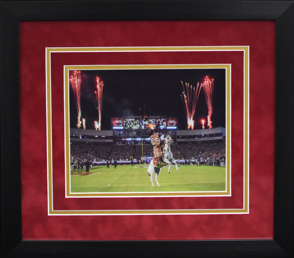 Florida State Seminoles Chief Osceola 8x10 Framed Photograph - Fireworks