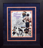 Walter Payton Autographed Chicago Bears 8x10 Framed Photograph